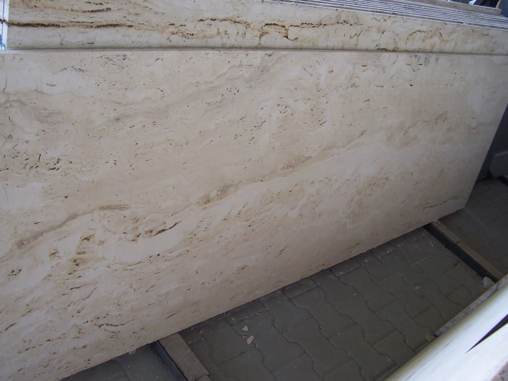 Blog - Travertine kitchen worktop. Is it worth it?